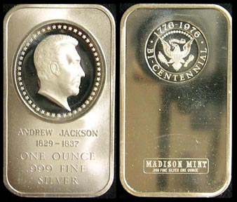 Andrew Jackson' Art Bar by Madison Mint. MAIN