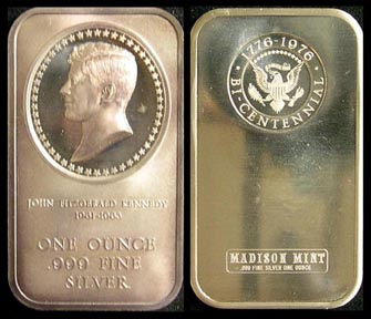 John F. Kennedy' Art Bar by Madison Mint.