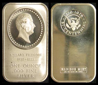 Millard Fillmore' Art Bar by Madison Mint.