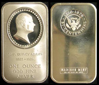 John Quincy Adams' Art Bar by Madison Mint.
