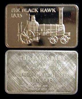 Locomotive - The Black Hawk 1835' Art Bar by Mount Everest Mint.