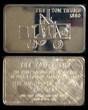 Locomotive - The Tom Thumb 1830' Art Bar by Mount Everest Mint.