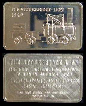 Locomotive - The Stourbridge Lion 1829' Art Bar by Mount Everest Mint.