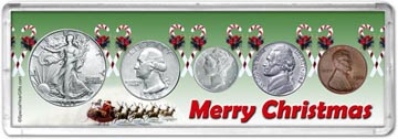 1942 Merry Christmas Coin Gift Set THUMBNAIL