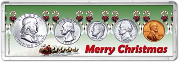 1955 Merry Christmas Coin Gift Set THUMBNAIL
