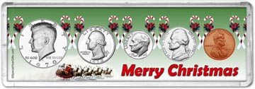 1970 Merry Christmas Coin Gift Set THUMBNAIL