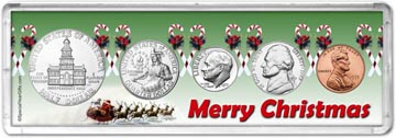 1975 Merry Christmas Coin Gift Set THUMBNAIL