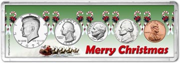1977 Merry Christmas Coin Gift Set THUMBNAIL