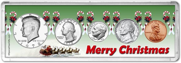 1978 Merry Christmas Coin Gift Set LARGE