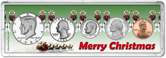 1982 Merry Christmas Coin Gift Set LARGE