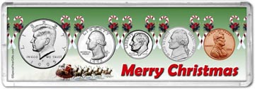 1995 Merry Christmas Coin Gift Set THUMBNAIL