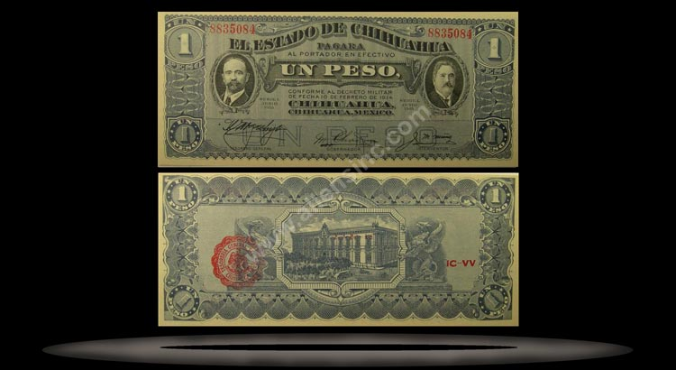 El Estado de Chihuahua (Revolutionary), Mexico Banknote, 1 Peso, Jun 1915, P#530b