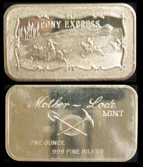 Pony Express' Art Bar by Mother Lode Mint.