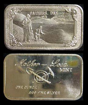 Father's Day 1973' Art Bar by Mother Lode Mint.