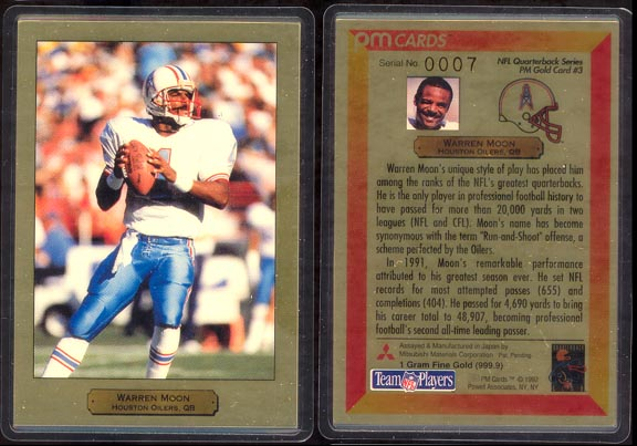 Warren Moon; 1 g 999.9 Gold
