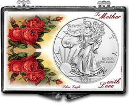 Mother's Day, To Mother With Love, American Silver Eagle Gift Display THUMBNAIL