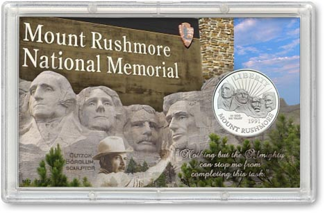 Mount Rushmore Commemorative Half Dollar Display LARGE