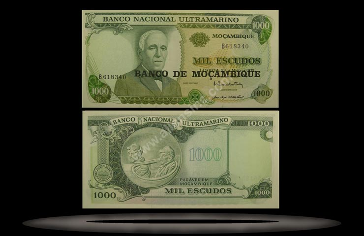 Mozambique Banknote, 1000 Escudos, ND (1976), P#119 MAIN