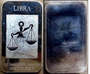 Libra' Art Bar by National Mint.