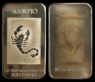 Scorpio' Art Bar by National Mint.