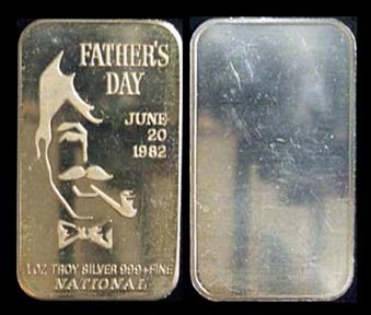 Father's Day 1982' Art Bar by National Mint. MAIN