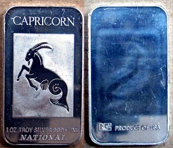 Capricorn' Art Bar by National Mint.