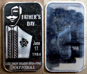 Father's Day 1984' Art Bar by National Mint. MAIN