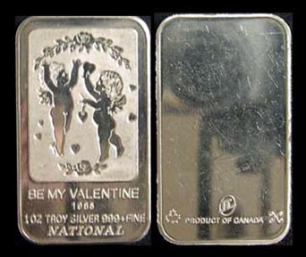 Be My Valentine 1985' Art Bar by National Mint. MAIN