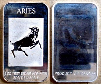Aries' Art Bar by National Mint.