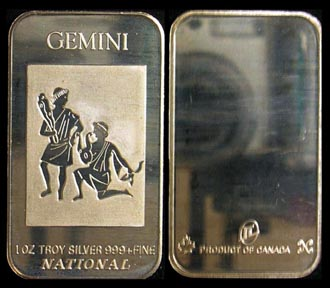 Gemini' Art Bar by National Mint.