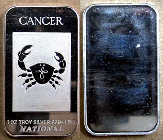 Cancer' Art Bar by National Mint. MAIN