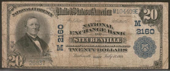 National Exchange Bank of Steubenville, Ohio, Charter M2160