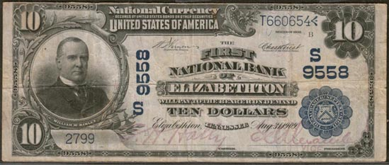 First National Bank of Elizabethton, Tennessee, Charter S9558