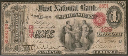 First National Bank of Saint Johnsbury, Vermont, Charter 489