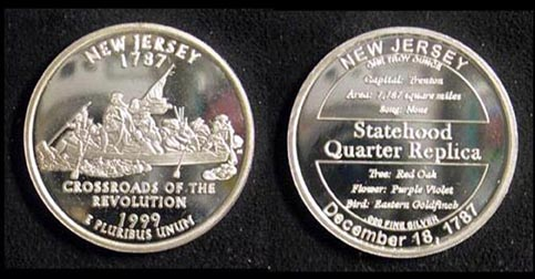 New Jersey Quarter Replica' Art Bar. MAIN