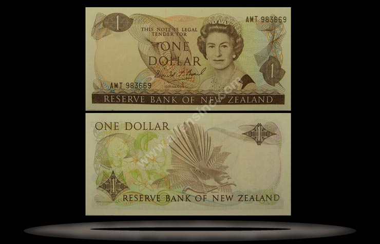 New Zealand Banknote, 1 Dollar, ND (1985-89), P#169b