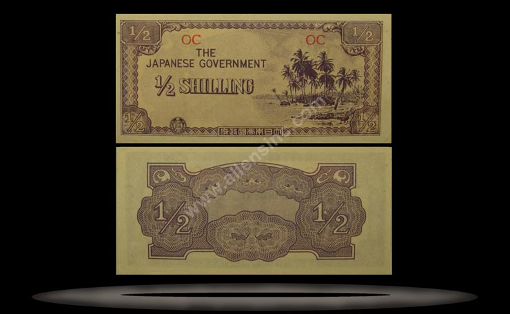 Oceania Banknote, 1/2 Shilling, ND (1942), P#1c