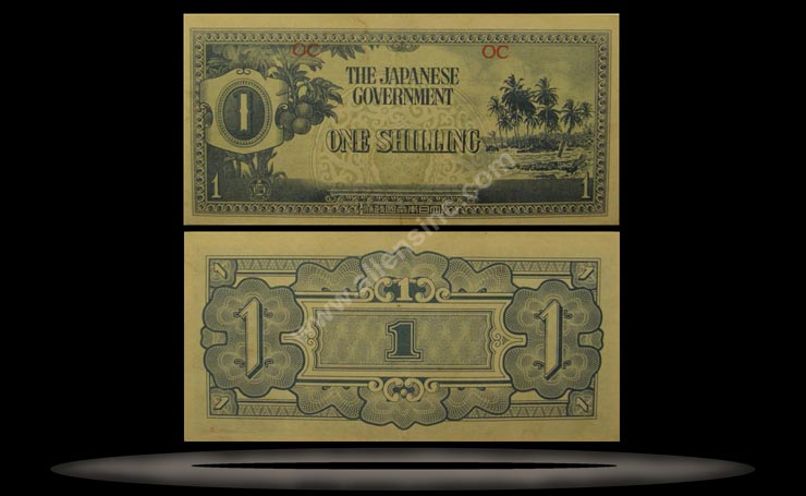 Oceania Banknote, 1 Shilling, ND (1942), P#2a