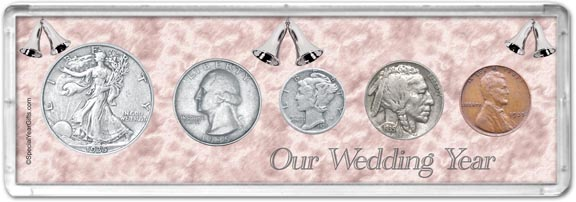 1935 Our Wedding Year Coin Gift Set LARGE
