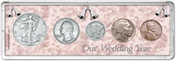 1936 Our Wedding Year Coin Gift Set THUMBNAIL