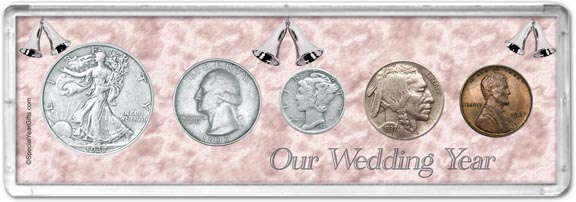 1937 Our Wedding Year Coin Gift Set LARGE