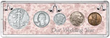 1937 Our Wedding Year Coin Gift Set THUMBNAIL