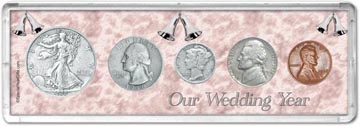 1938 Our Wedding Year Coin Gift Set THUMBNAIL