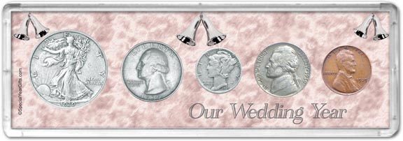 1939 Our Wedding Year Coin Gift Set LARGE