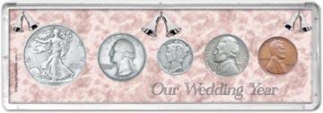 1939 Our Wedding Year Coin Gift Set THUMBNAIL