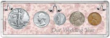1940 Our Wedding Year Coin Gift Set THUMBNAIL