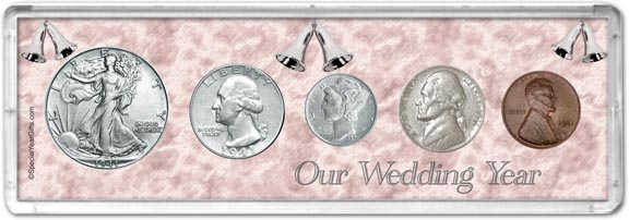 1941 Our Wedding Year Coin Gift Set LARGE