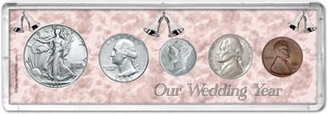 1941 Our Wedding Year Coin Gift Set THUMBNAIL