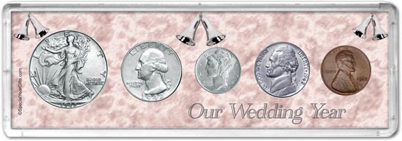 1942 Our Wedding Year Coin Gift Set LARGE