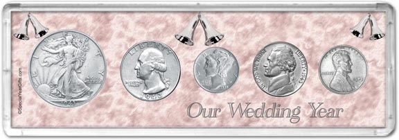1943 Our Wedding Year Coin Gift Set LARGE